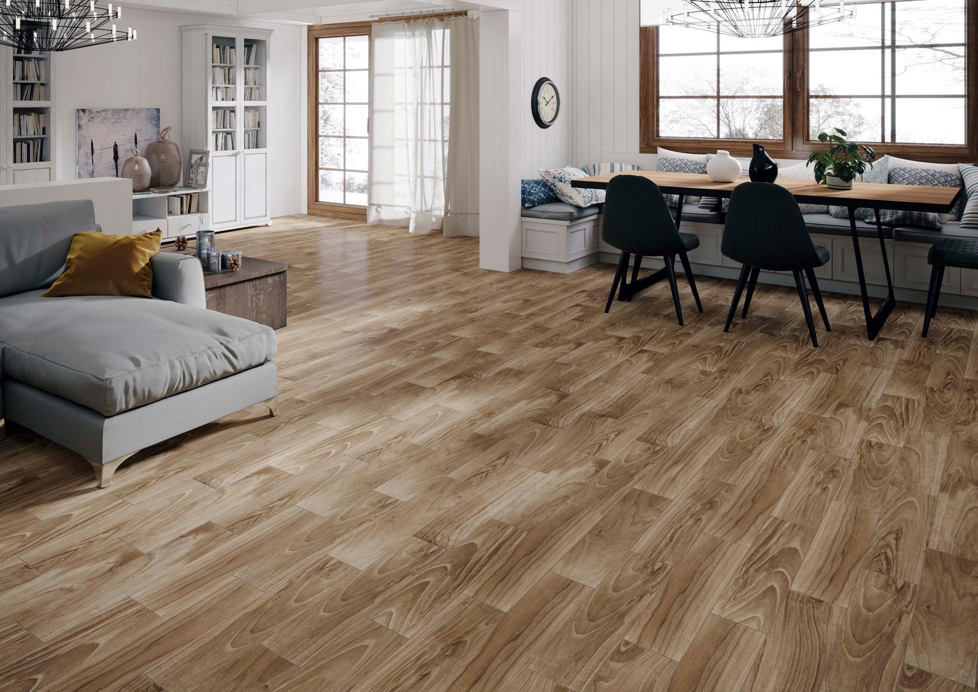 Dayton Oak Wood Plank Ceramic Tile Wood Planks Oak Wood Wood Look Tile Floor