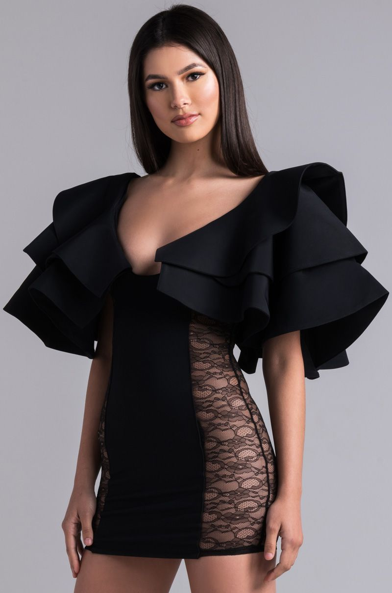 0d7f39a0d05 The KikiRiki Haute To Trot Ruffle Sleeve Mini Dress ain t here to play  games
