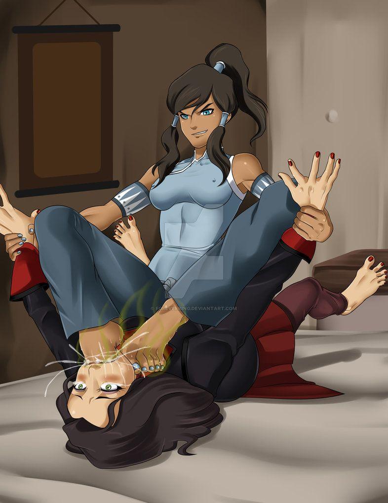 Korra X Asami By F0reverking Korra Anime Art