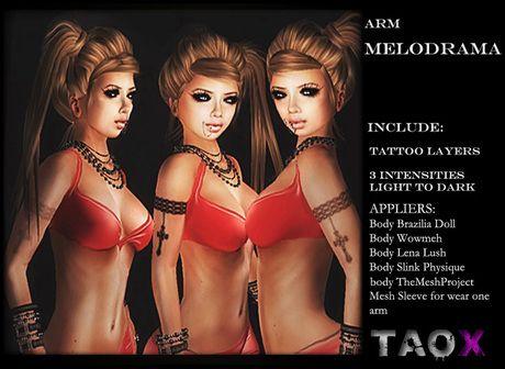 .: TAOX :. TaTToo & Applier / Arm Melodrama Cross