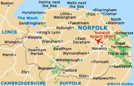 Norfolk Map Yahoo Image Search results UK Counties Pinterest