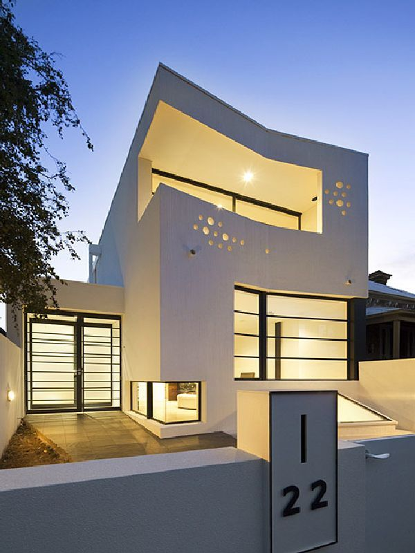 Seaview House Designed By Parsonson Architects: Front View Prahran House In Melbourne Australia