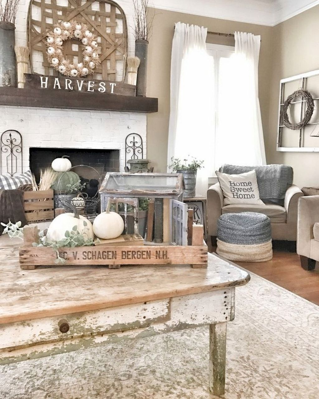 60 Awesome Farmhouse Home Decor Ideas With Images Living Room