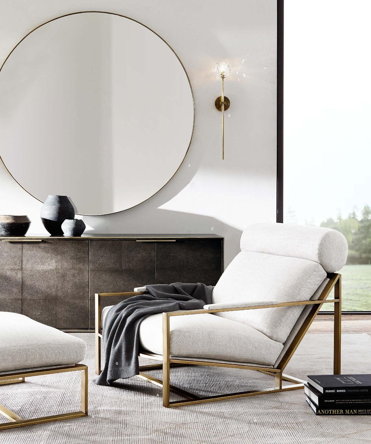How To Decorate With Round Mirrors Your Living Room  Modern - Designer mirrors for living rooms