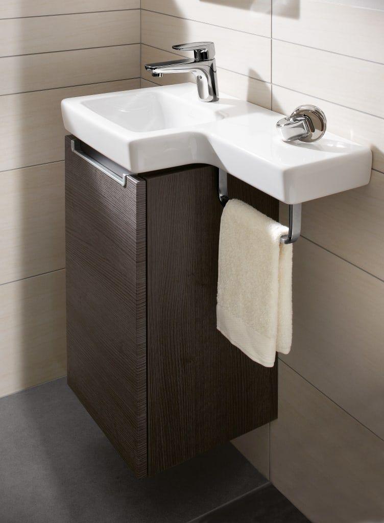 Pequenos Banos Moderne Badezimmer Von Villeroy Boch Modern Gaste Wc Mobel Gaste Wc Badmobel Gaste Wc