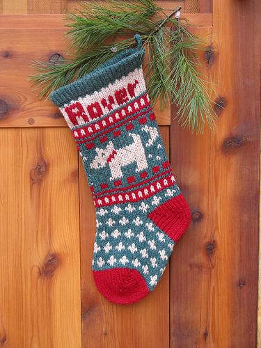 Pet Dog Christmas Stocking Pattern By Annies Woolens Stocking