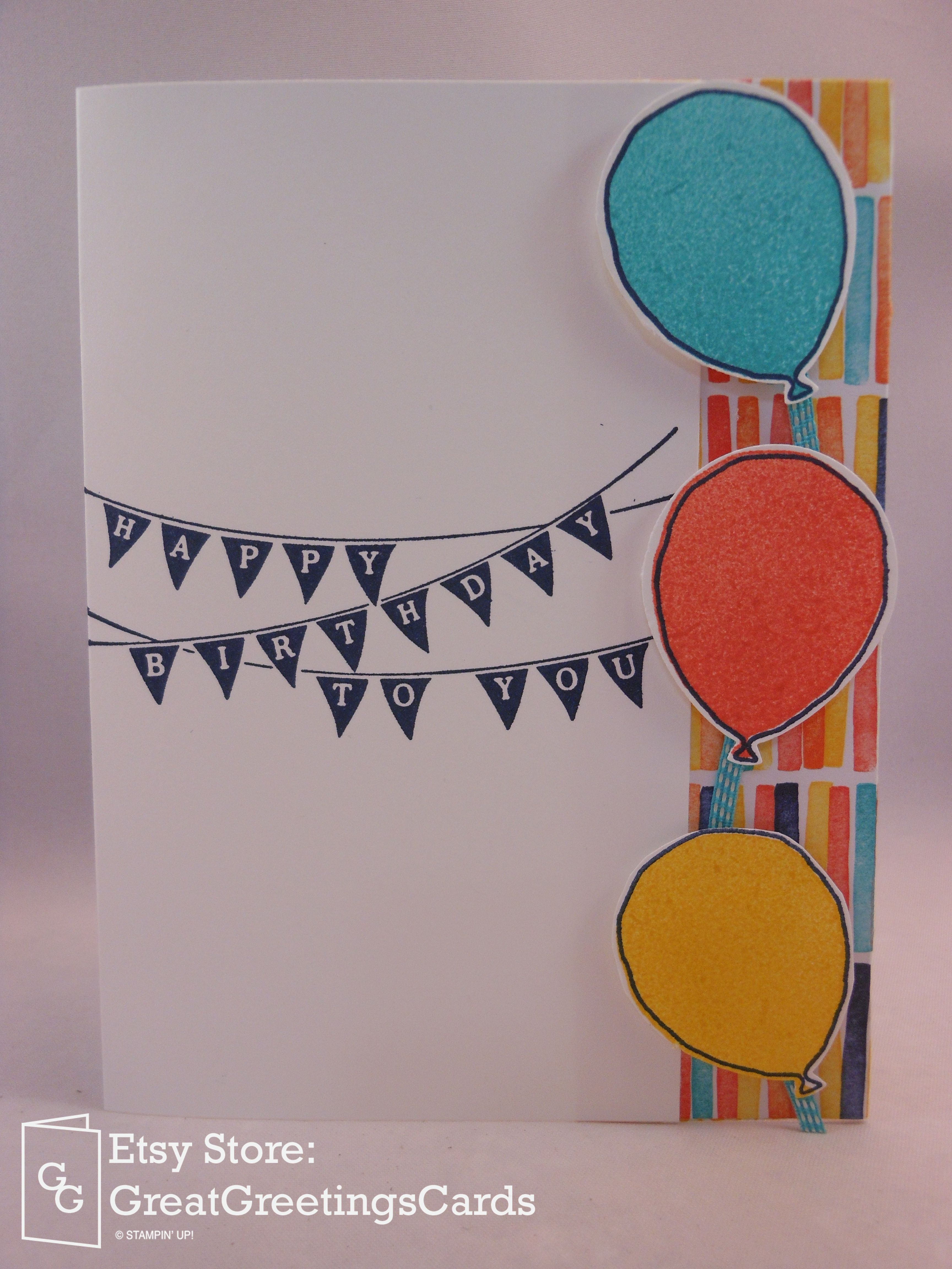 Balloon Birthday Gift Card Holder Card Pocket Will Hold A