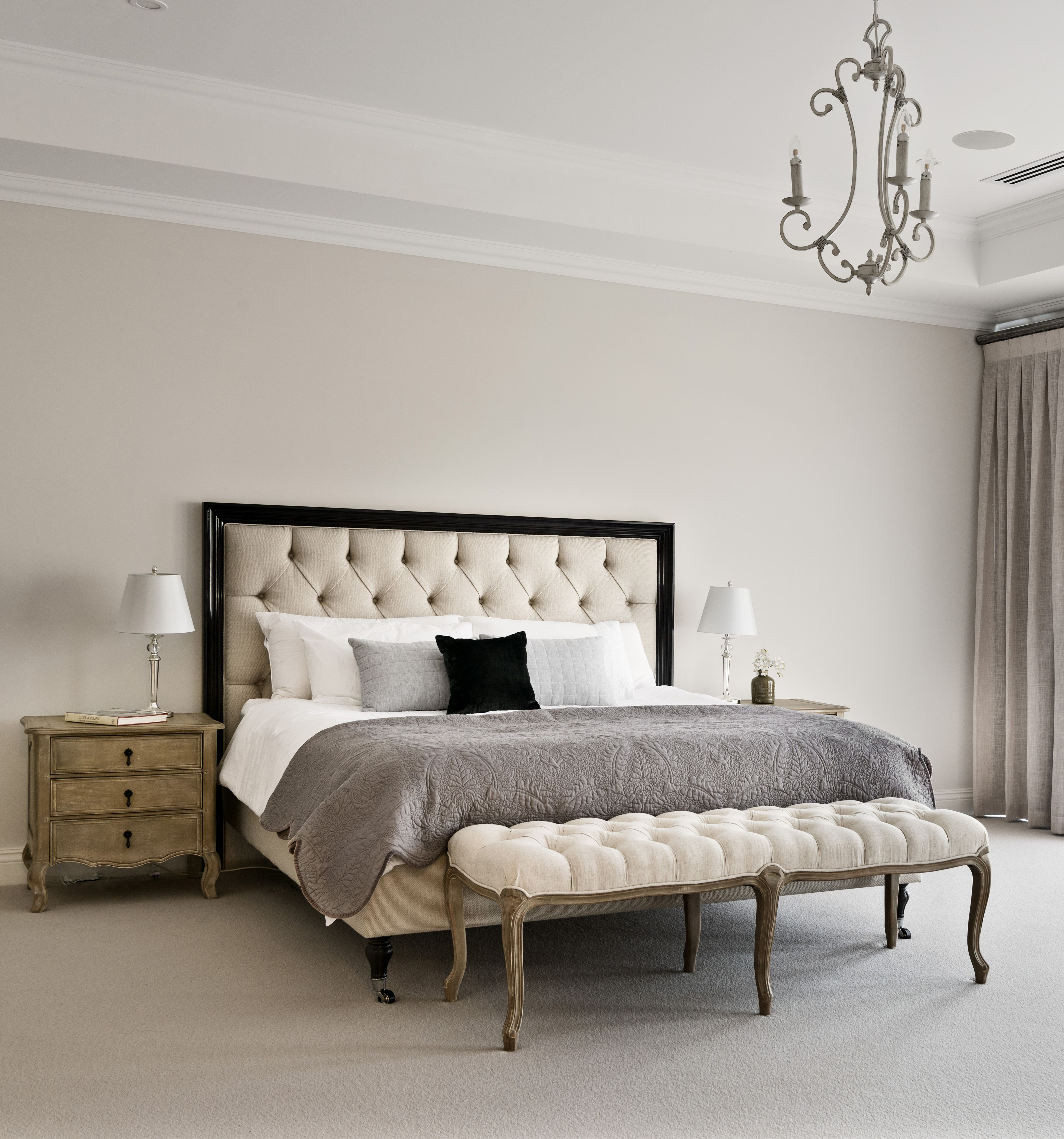Hamptons Inspired Luxury Home Master Bedroom Robeson: Custom-designed For A Young Family, This Hamptons-style