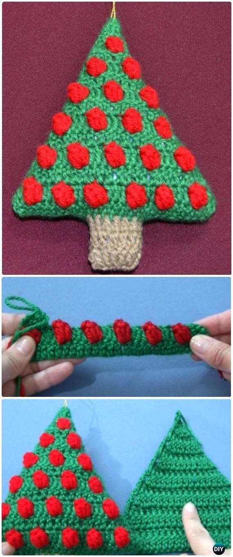 Crochet Bobble Christmas Tree Ornament Free Pattern Video Crochet