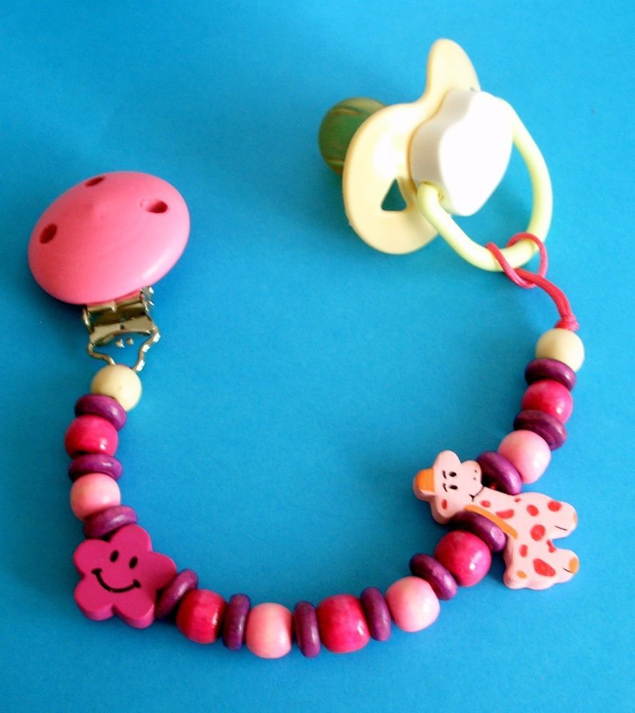 Holder Dummy Pacifier Soother Chain Clip Cadena De Chupete