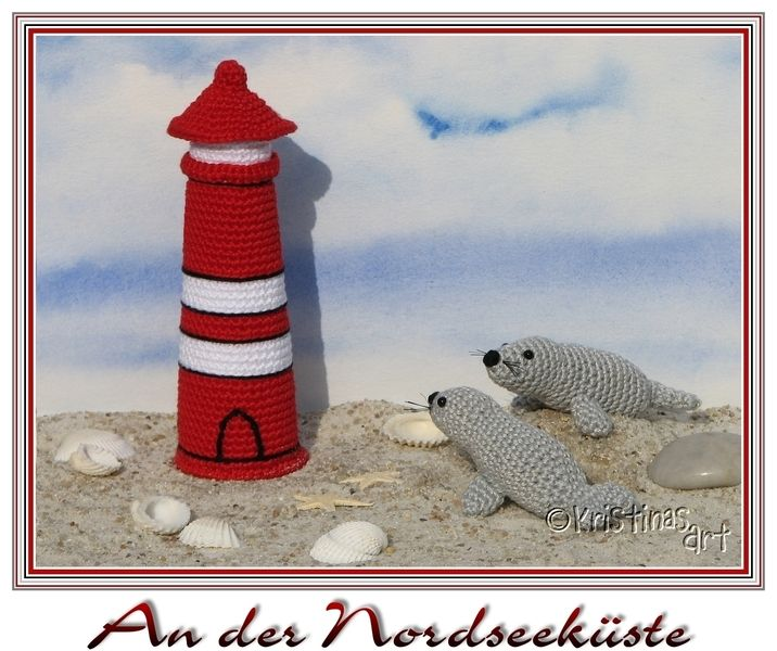 Häkelanleitungen Häkelanleitung Leuchtturm Seehund I Amigurumi