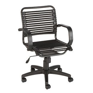 Black Flat Bungee Office Chair With Arms In 2019 Things