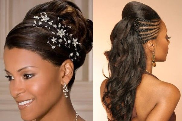 Stupendous 1000 Images About Wedding Hairstyles On Pinterest Black Women Hairstyle Inspiration Daily Dogsangcom