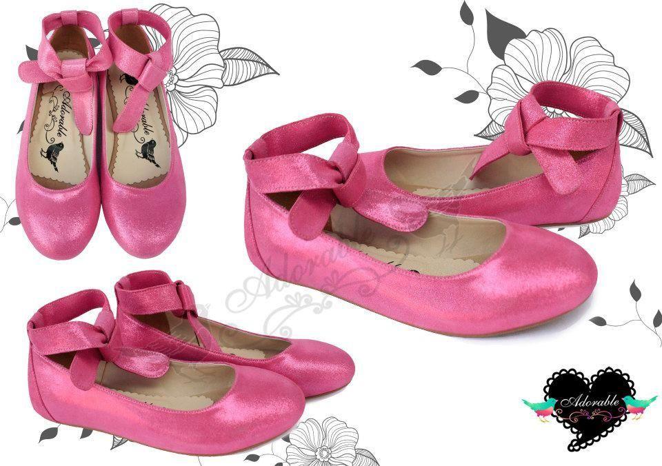 ballet pump in shocking pink. sweet.
