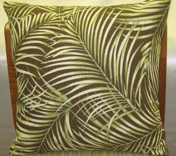 Decorative Pillow Palm Tree : Palm tree print decorative pillow cover -18