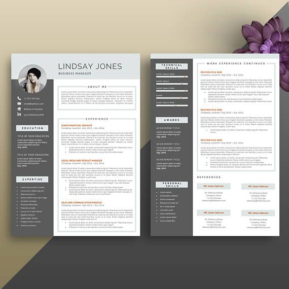 Resume Template Modern Resume Template Professional Resume docs - docs resume template