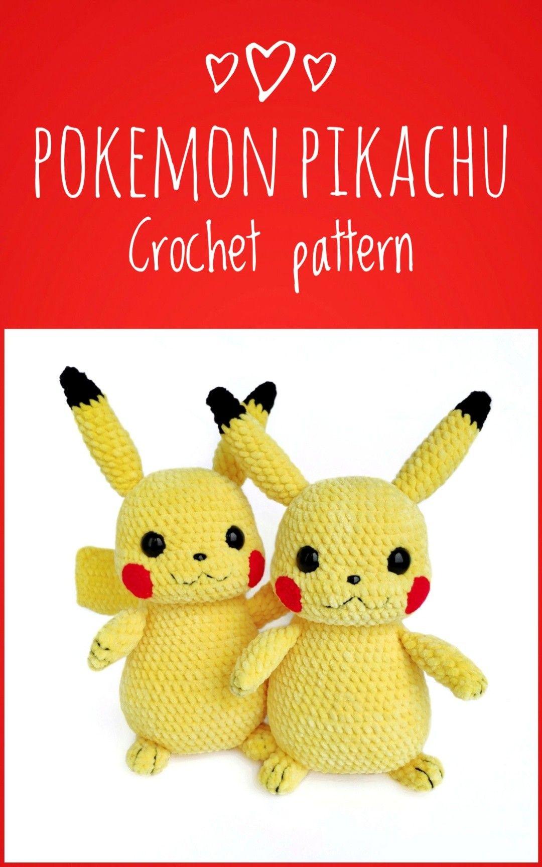 PATTERN: Pikachu Amigurumi Pikachu Crochet Pattern Detective | Etsy | 1728x1080