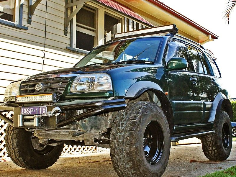 Suzuki Grand Vitara 2 5 Lx 4wd 2004 5 Inch Suspension Lift 2 Inch Body Lift 33 Inch Mt Tyres Grand Vitara Coches Y Motocicletas Autos Modificados