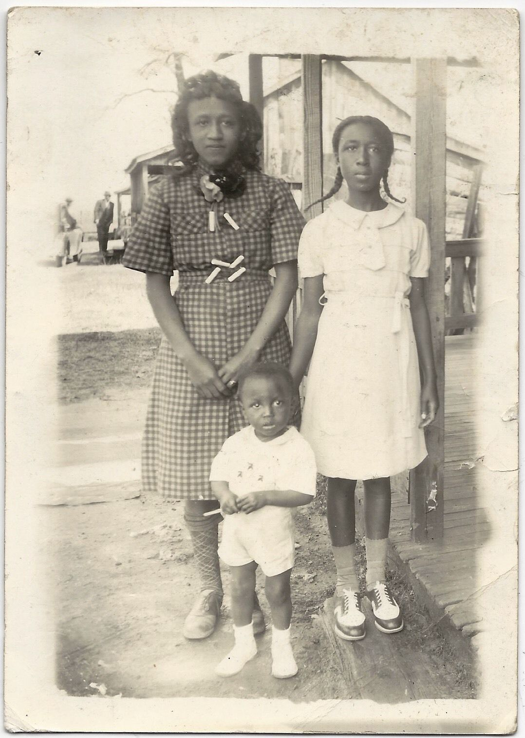Antique African American Family Lovely Old Photo Black Americana