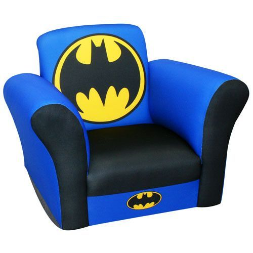 Phenomenal Batman Logo Kids Rocking Chair Batman Room Superhero Baby Machost Co Dining Chair Design Ideas Machostcouk