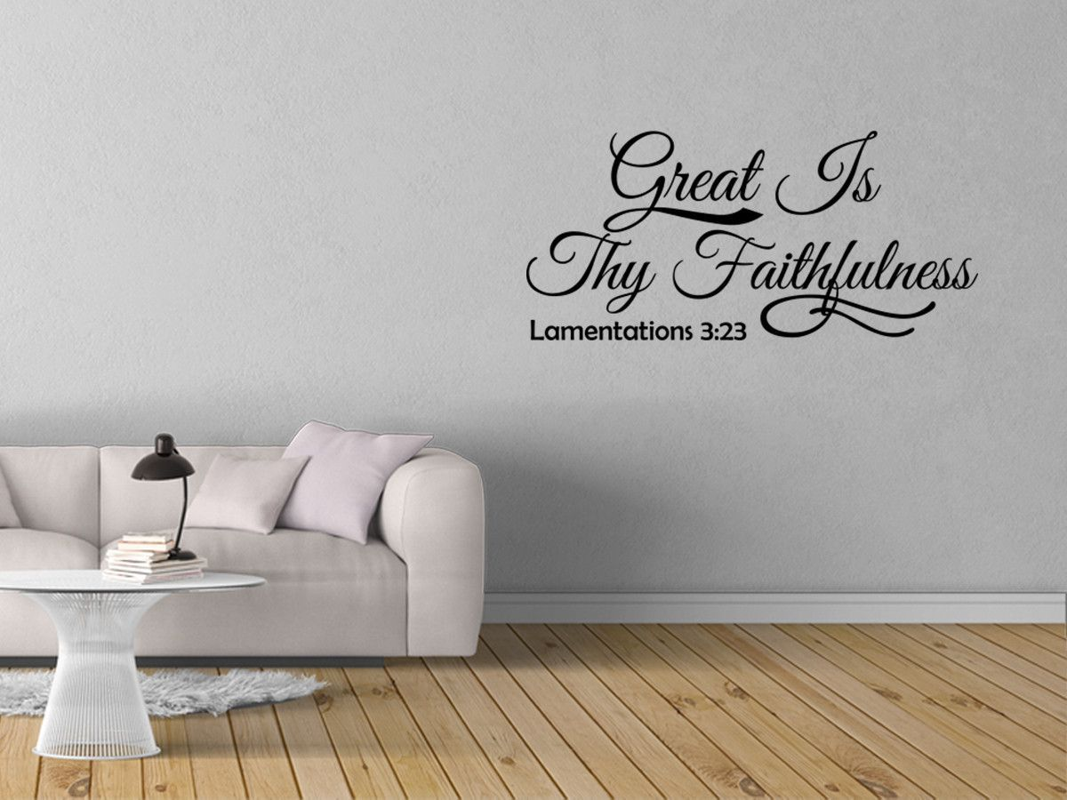 Great Is Thy Faithfulness Lamentations Bible Decal - Vinyl decals for textured walls