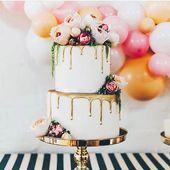 Naked Cakes für die Hochzeit  Hochzeitstorte mit echten Torten, dripped Cake, g…