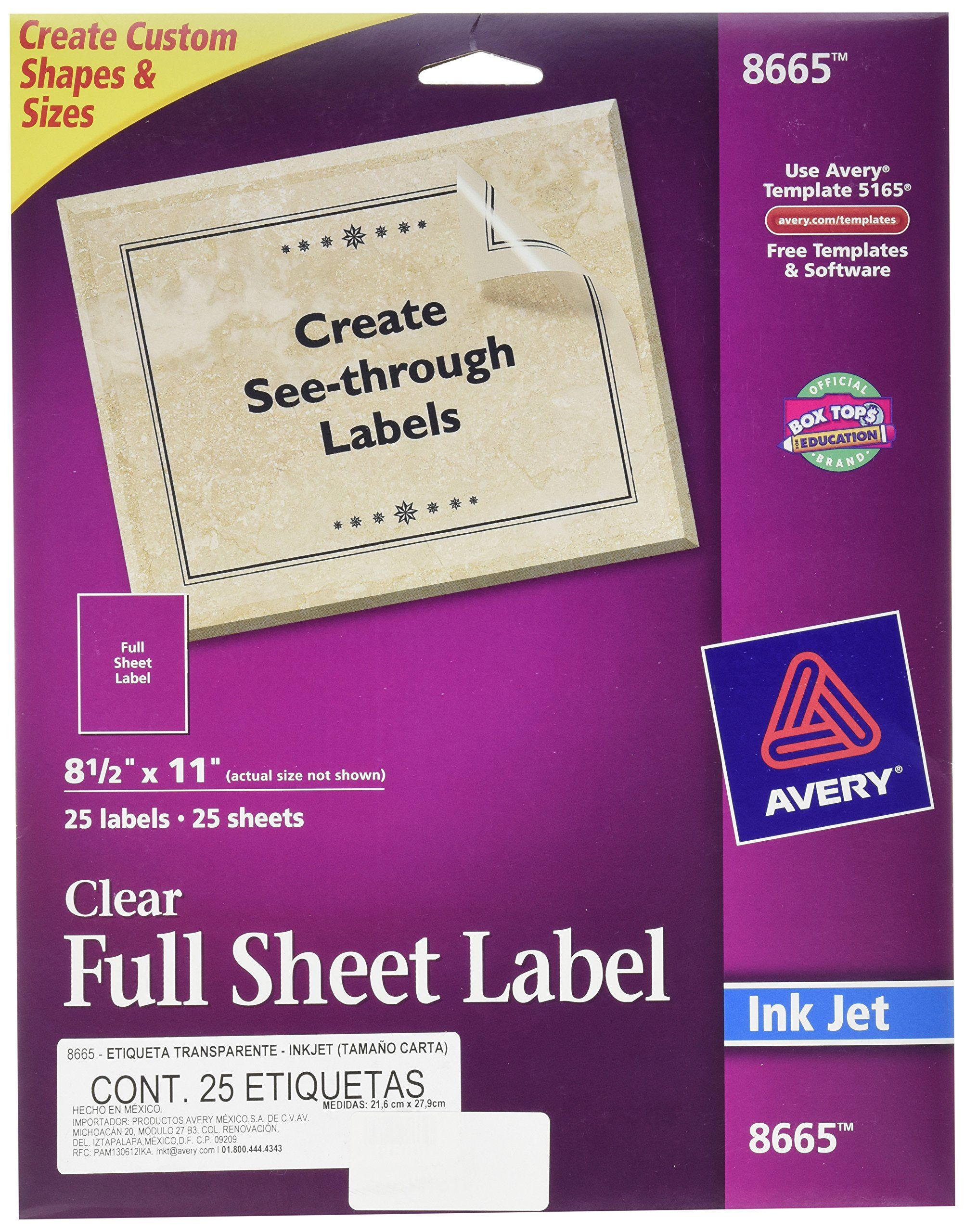 clear full sheet labels for laser printers mersn proforum co