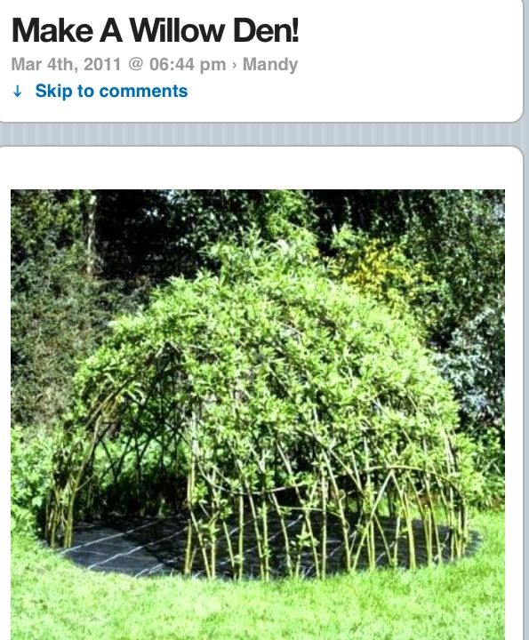 How To Living Willow Playhouse Garden Inspiration