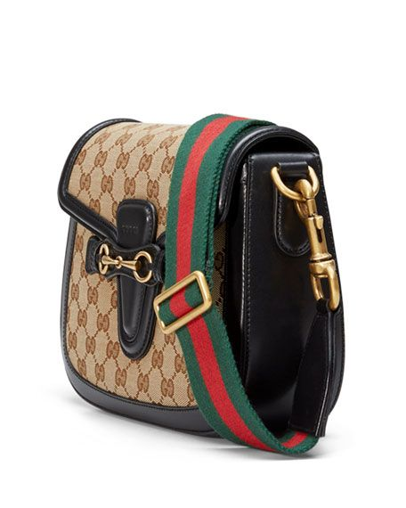 c2544c2edfb Gucci beige ebony original GG canvas shoulder bag with black leather.  Hand-painted edges  on-mould construction. Polished antiqued golden  hardware.