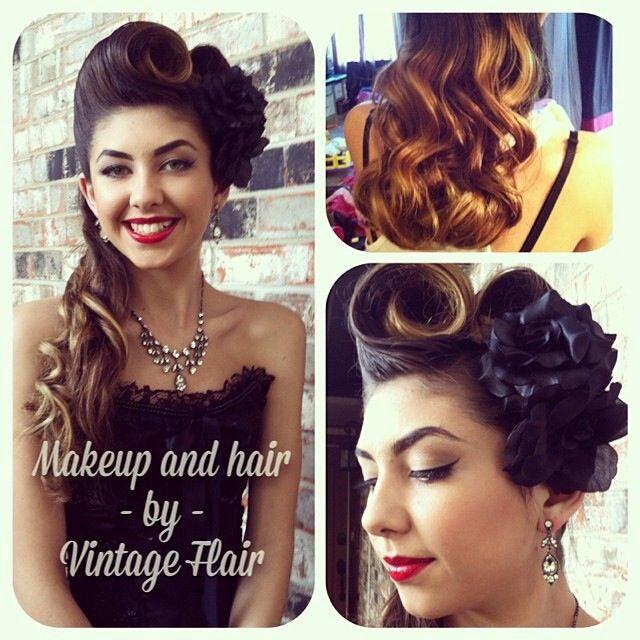 Super cute Vintage Flair hair  make-up