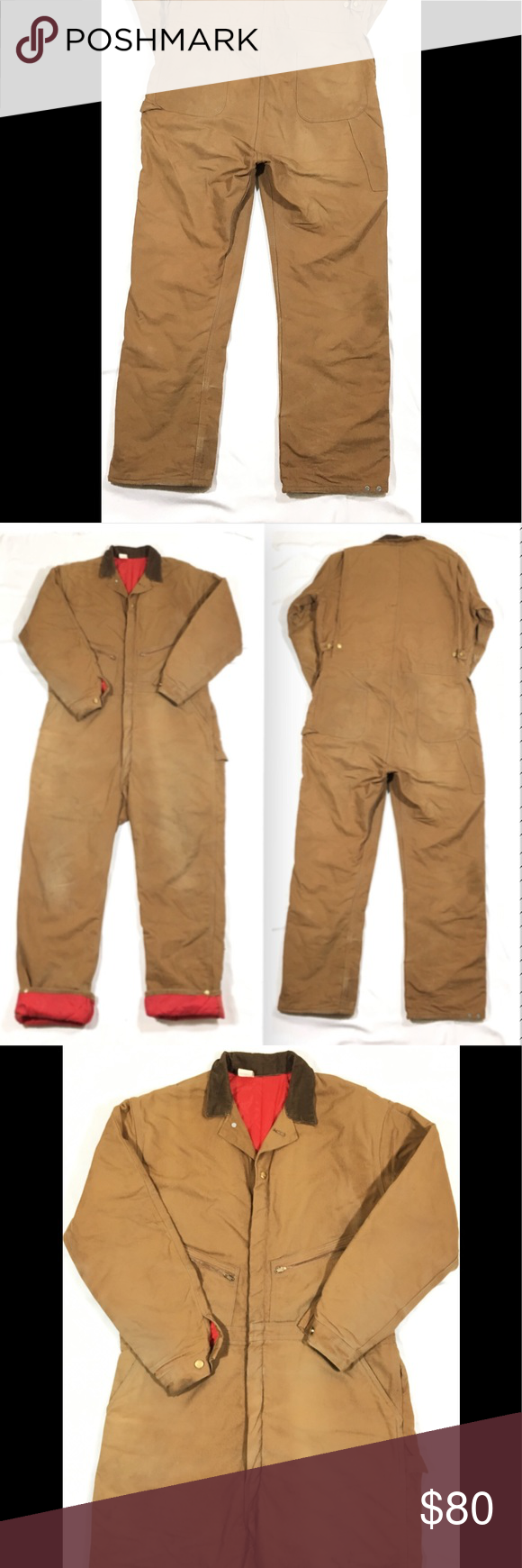 carhartt 52 tall quilt lined insulated coveralls carhartt on men s insulated coveralls with hood id=67808