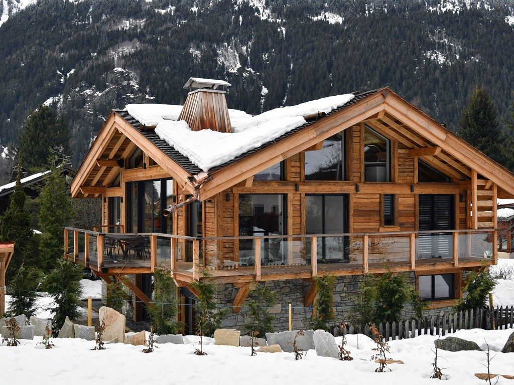 Black Stone Luxury Chalet Pool Spa Et Sauna Chamonix Mont Blanc Winter House Exterior Winter House Chalet Design