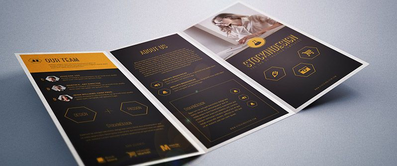 Indesign A  Trifold Corporate Brochure Idml Cs Or Higher Type