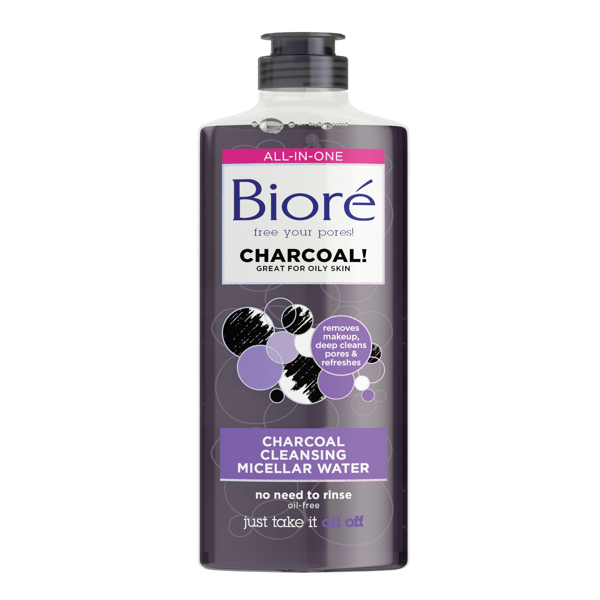 Biore Charcoal Cleansing Micellar Water Facial Cleanser
