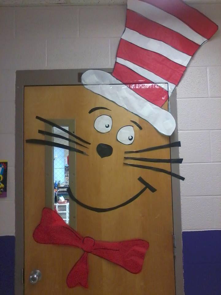 Cat in the Hat classroom door decoration for Read Across ...