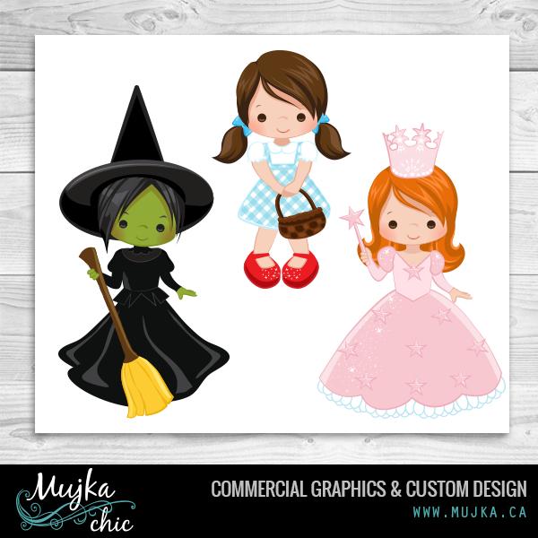 http://www.mujka.ca wizard-of-oz-clipart-dorothy-glinda-wicked ...