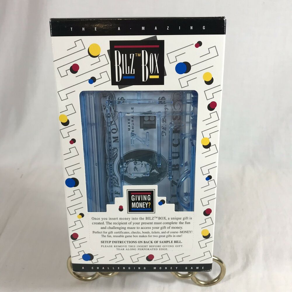 Bilz box maze puzzle gift card giving money holder