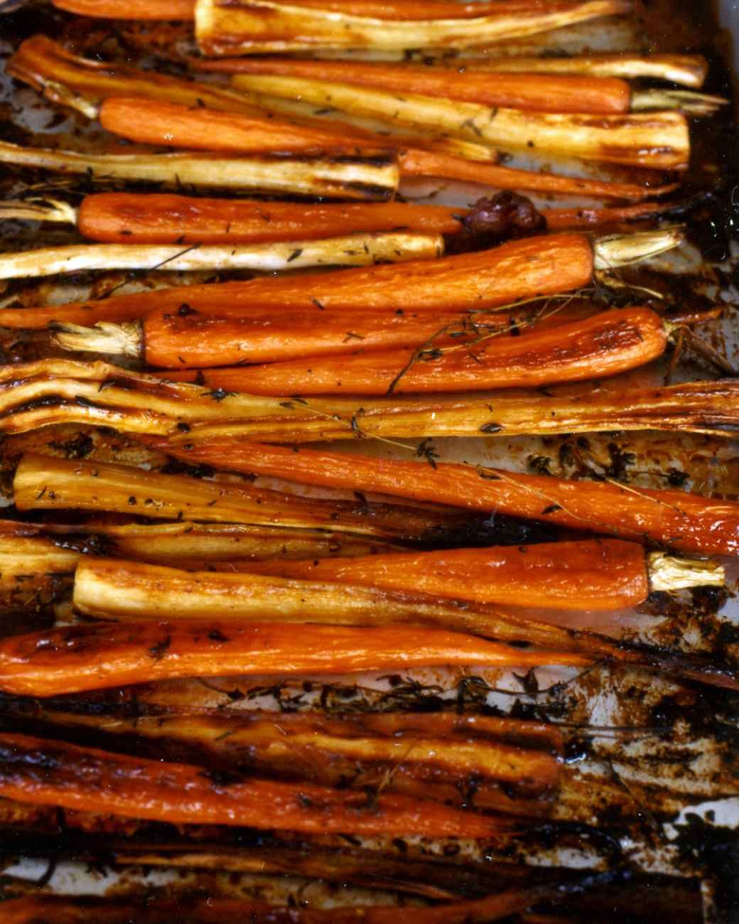 Maple-Glazed Parsnips And Carrots