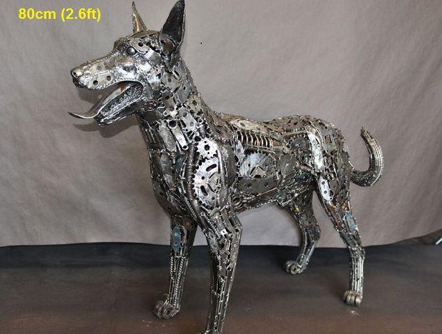 Metal Animal Art Garden Sculpture Horse Dog Bird Dragon Dinosaur Eagle Lion Bear Wild Boar Deer Bull Rhi Scrap Metal Art Metal Art Recycled Metal Art