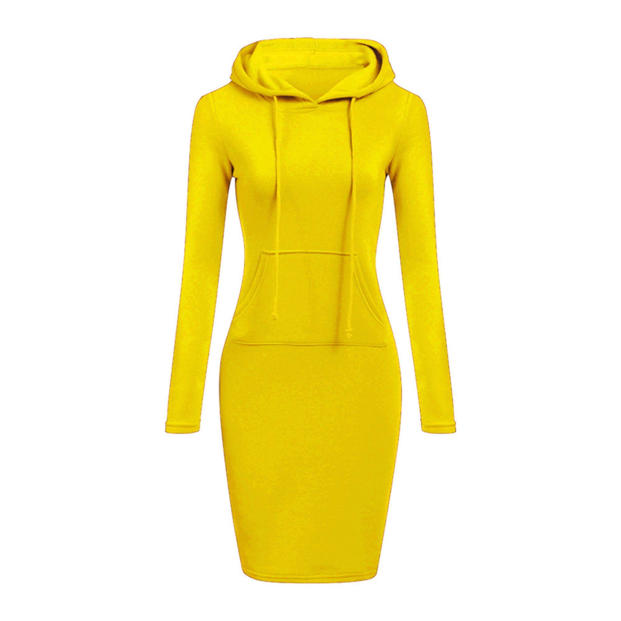 Wodstyle Womens Winter Drawstring Long Sleeve Slim Hoodie Dress Walmart Com Warm Sweatshirts Long Sweatshirt Hooded Dress [ 2000 x 2000 Pixel ]