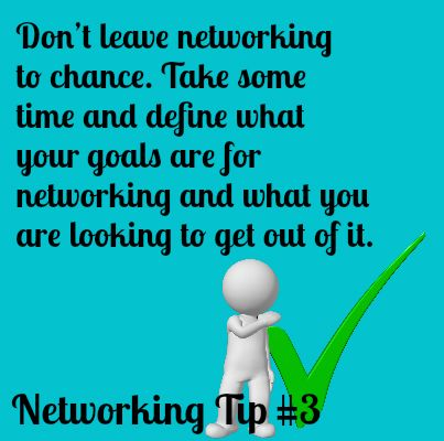 Networking Tip #3 Define your goals -□- Read Great Articles on - define excellent
