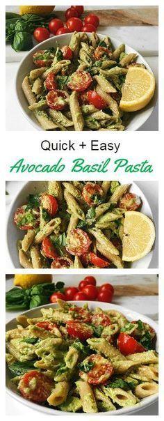 Pasta Recipe! #healthy #pasta #glutenfree #vegan #sauce #dairyfree #avocado #basil #lemon #dinner #lunch #quick #easy #recipe