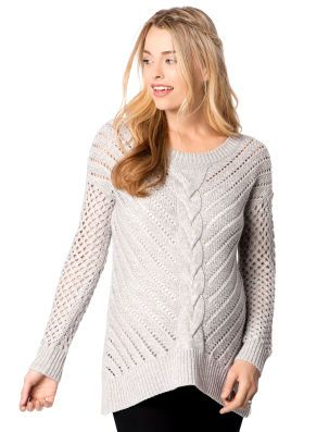 6d35f0d109e2a Wendy Bellissimo Motherhood Maternity Long Sleeve Hanky Hem Maternity  Sweater