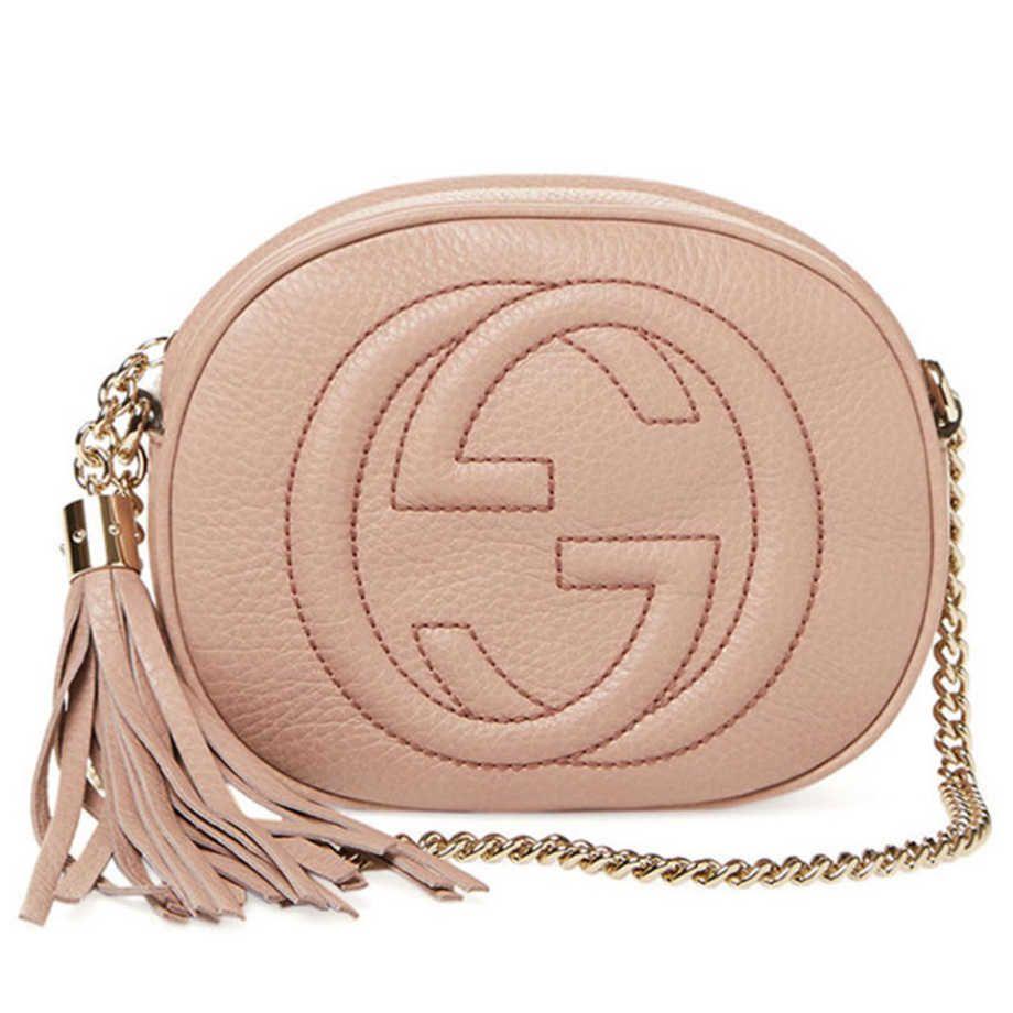 Gucci Soho Leather Mini Chain Crossbody. Ordinær pris: 9986 kroner. Foto: Produsenten