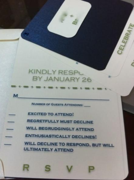 Funny response card wording - my friends will be amused, but my ...