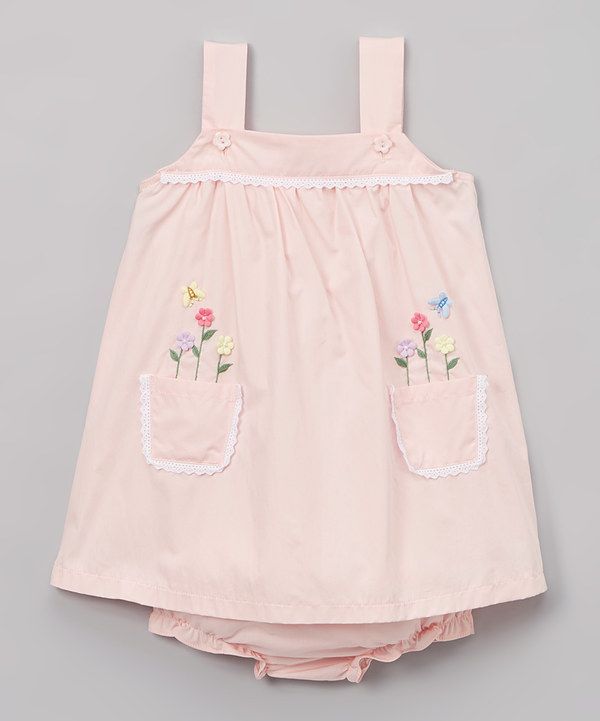 19140c89c Look at this Pink Butterfly Floral Top & Bloomers - Infant & Toddler on  #zulily today!