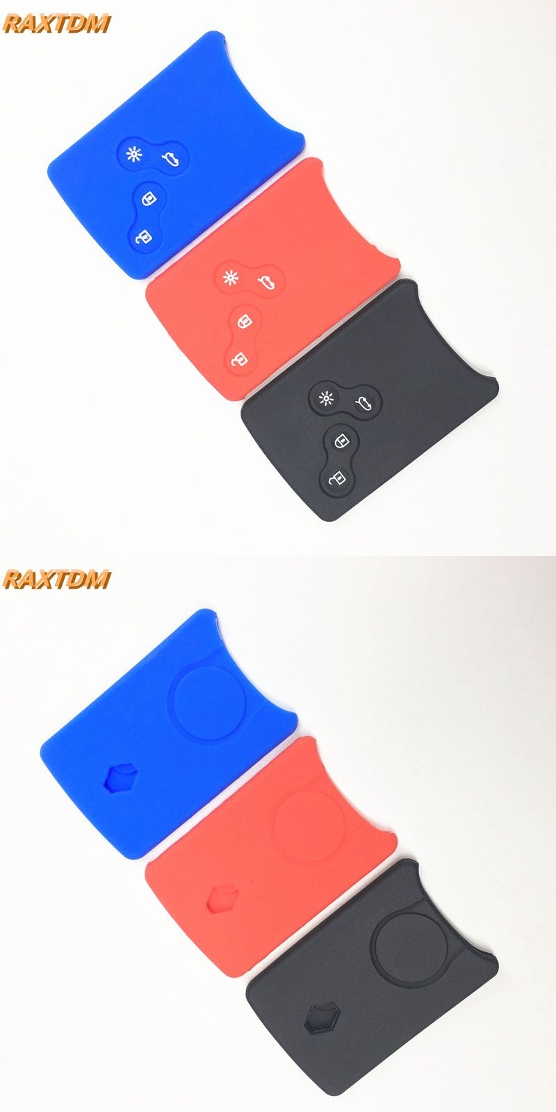 Silicone Rubber Car Key Cover Case Protector Sticker Holder For Scooter Vip Keychain Renault Clio Logan Megane 2 3