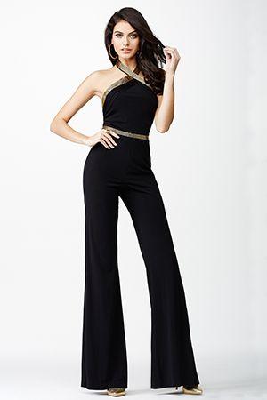 Black Jersey Jumpsuit JVN24671