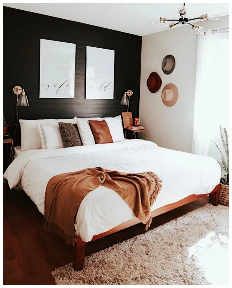 Best 40 How To Give A Black And White Bedroom The Boho 400 x 300