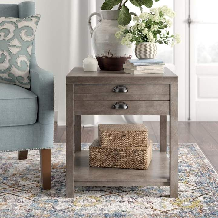 Birch Lane Heritage Stowe End Table With Storage Table Decor Living Room End Tables With Storage End Tables